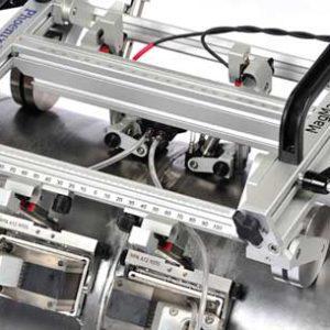 O Phoenix ISL MagMan é um scanner com movimentação manual para soldas circunferenciais e longitudinais.