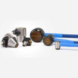 Transdutor Duplo Cristal de Ultrassom Industrial para Alta Temperatura