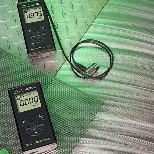 medidor de espessura por ultrassom - ZX-1-2 - dakota ultrasonics